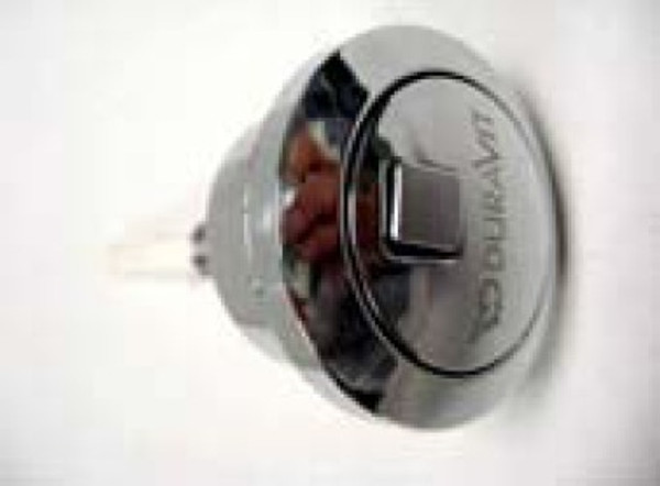 Duravit 0074601000 Dual flush push button with logo (chrome)