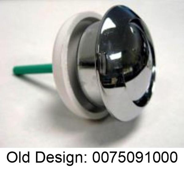 Duravit 0075091000 Top Mount Single Flush Push Button, Chrome