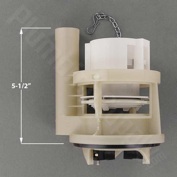 THU460.6D-A Drain Valve (flush valve) with Flush Tower - Fits: Carolina (884) and Supreme (863/864)
