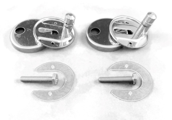 DURAVIT 0061381000 HINGE-SET FOR SEAT AND COVER WITH SOFT CLOSE, STAINLESS STEEL