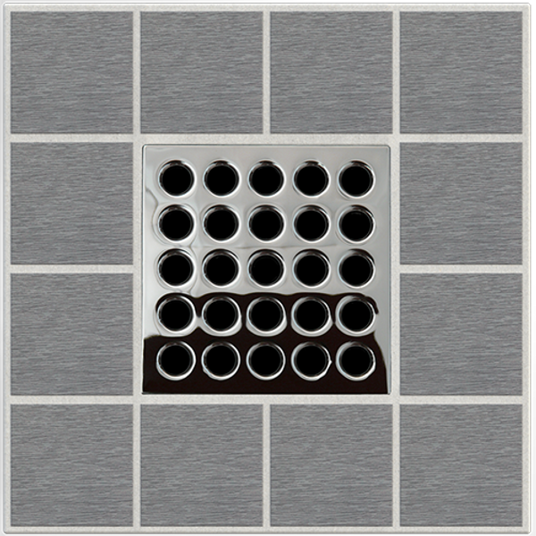 "EBBE E4401 3.75"" GRATE IN POLISHED CHROME"