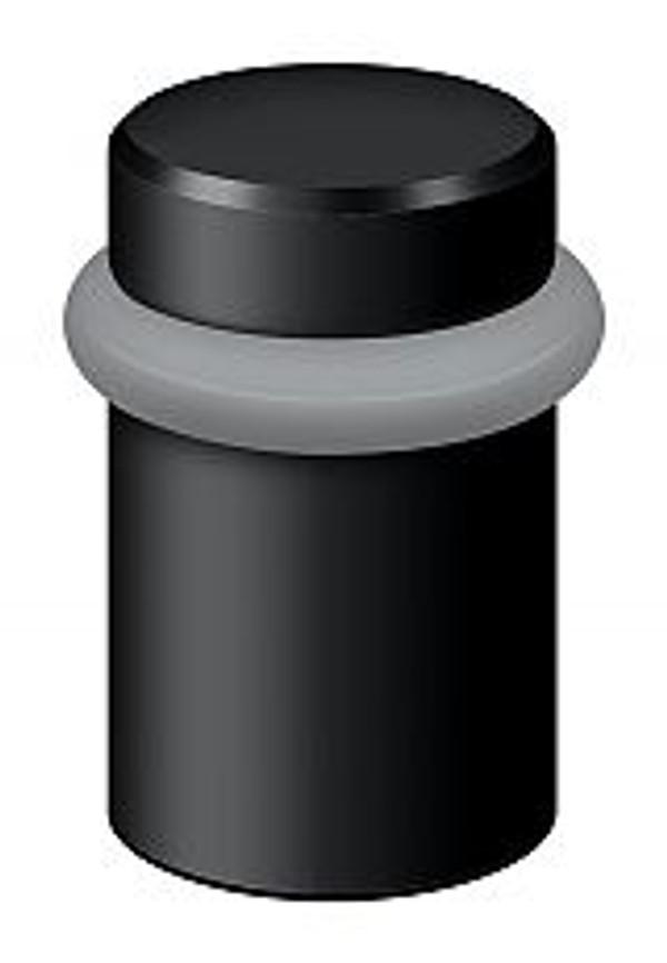 "DELTANA UFB5000U19 ROUND UNIVERSAL FLOOR BUMPER 2"" PAINT BLACK"