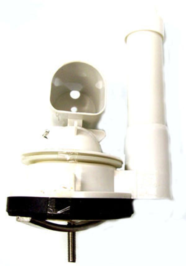 """Duravit 0074135300 - Flush valve 2 for Metro, white plastic, Overflow tube length: 5 3/8"""", replaced 2"""" brass base"""