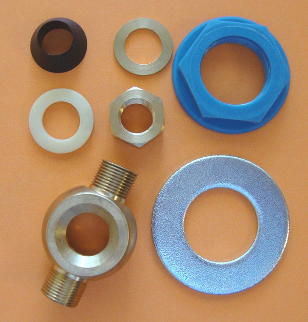Phylrich 10PCBAG 001 Parts kit: Flex Line Hose, Complete Lavatory Tee Assembly, Coupling Nut and Washer