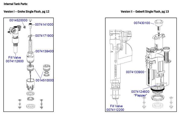 Duravit 0074116700 Tank Mount Fill Valve Bottom Supply