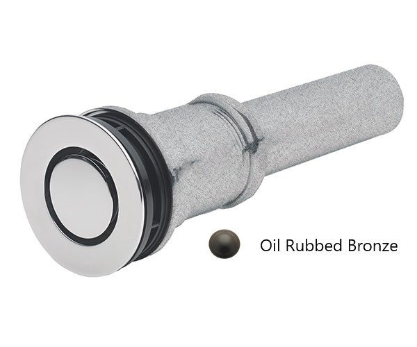 California Faucets 9050Z-ORB ZeroDrain® Pop-Down Style Lavatory Drain, Oil Rubbed Bronze Finish