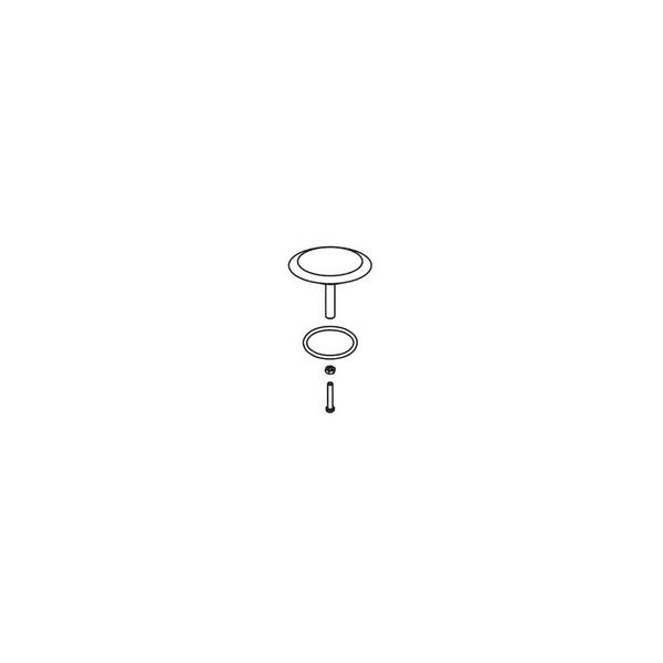 GEBERIT 241.727.21.1 PLUNGER ASSEMBLIE PLASTIC - POLISHED CHROME
