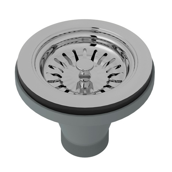 ROHL 733APC MANUAL BASKET STRAINER WITHOUT REMOTE POP-UP POLISHED CHROME