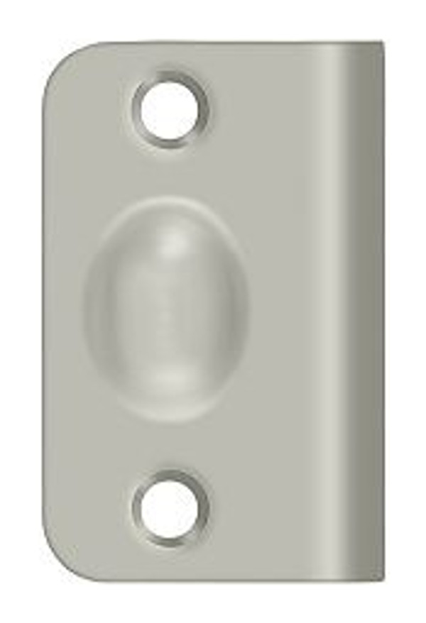 DELTANA SPB349U15 STRIKE PLATE FOR BALL CATCH AND ROLLER CATCH BRUSHED NICKEL