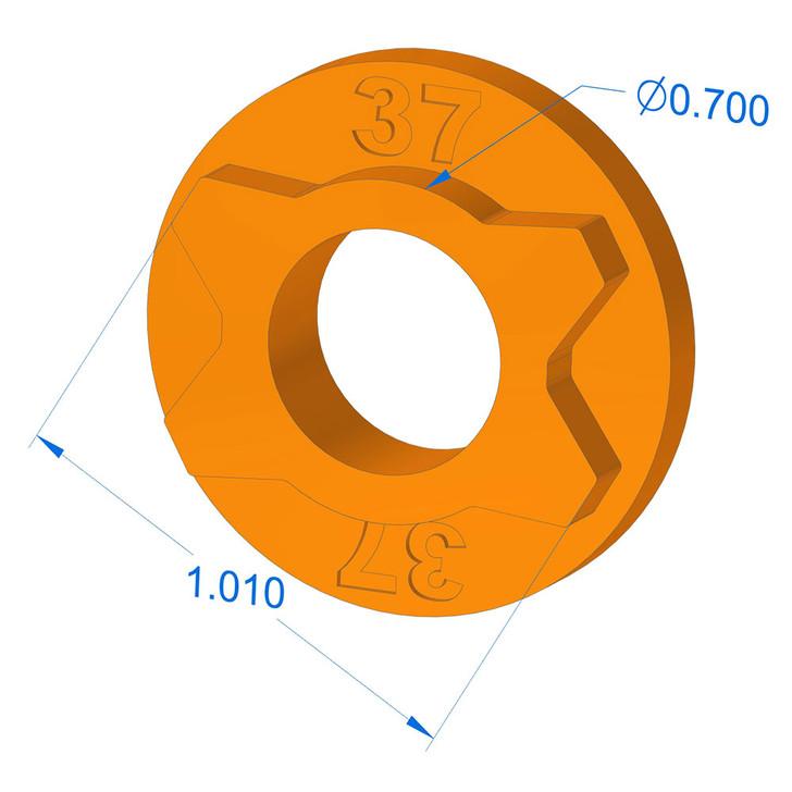 1000-37 Blade Hole Adapter (MTD 4 pt)
