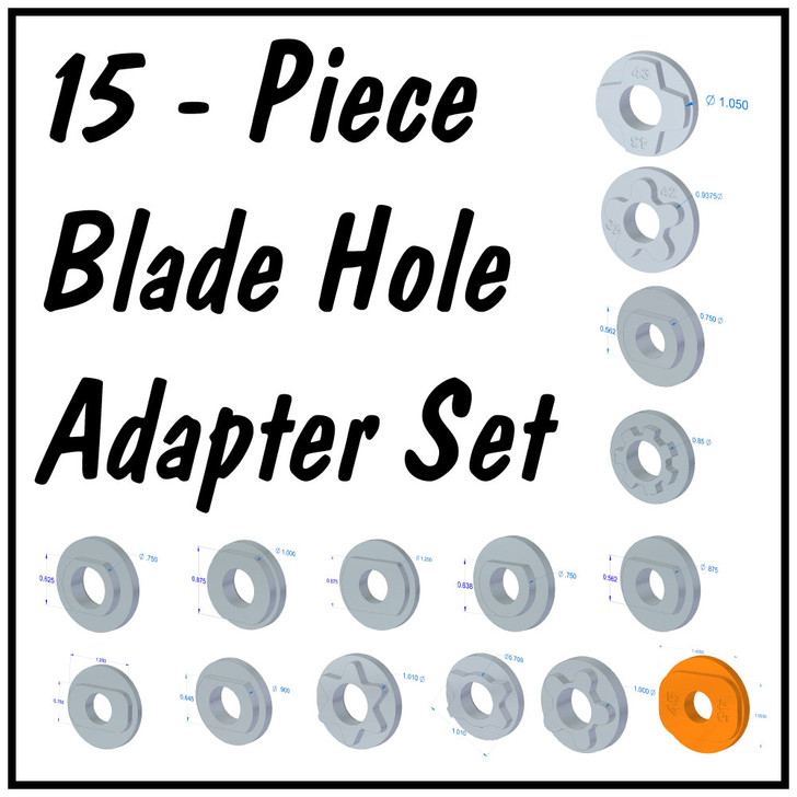 1000-38_SET of 15 Blade Hole Adapters
