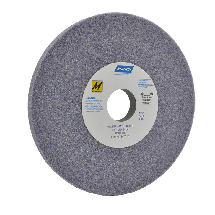 8000-30 Grinding wheel for the MAG-8000 for sharpening curved mulching lawn mower blades.