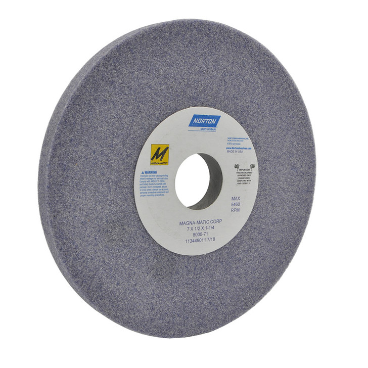 8000-71 Grinding wheel for the MAG-8000 for sharpening curved mulching lawn mower blades.