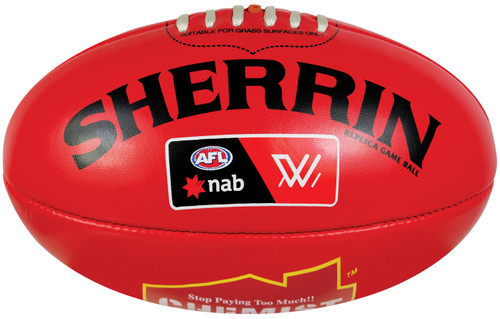 Sherrin Mini AFLW Red