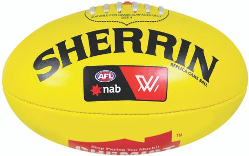 Sherrin PVC AFLW Yellow