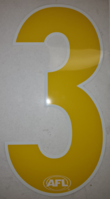 Heat Press Numbers - Yellow Youth Sizing