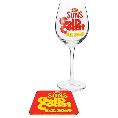 SUNS Wine Glass & Coaster Set