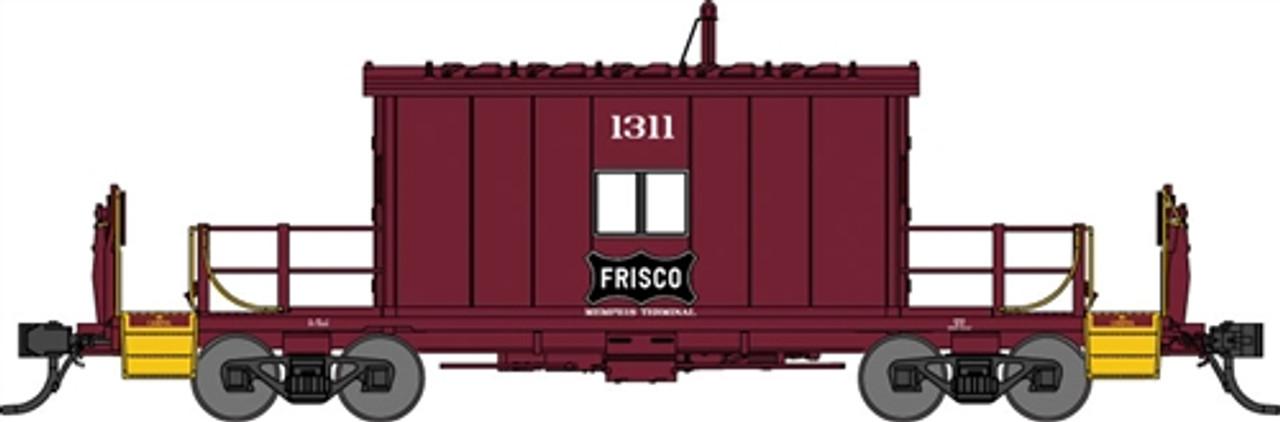 Bluford Shops N 24190 Steel Transfer Caboose w/Short Roof, St  Louis-San  Francisco Frisco #1311