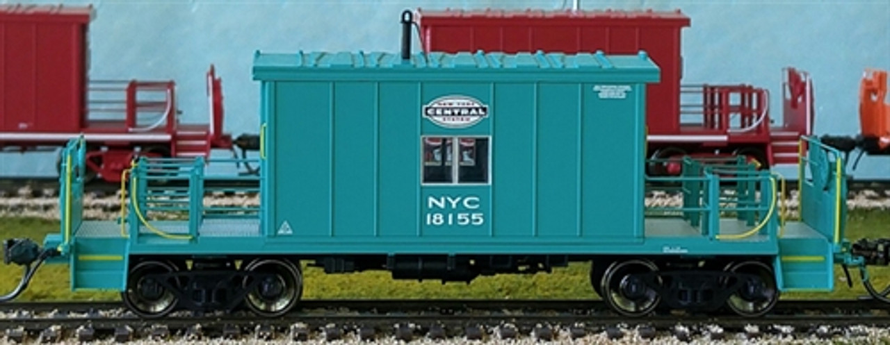 Bluford Shops HO BLU34330 Scale Ready to Run Transfer Caboose, New York  Central NYC Short Roof #18155