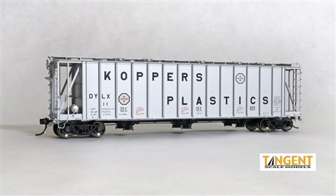 Tangent Scale Models HO 12024-02 General American Dry-Flo Covered Hopper  DYLX Koppers Plastics 1961 #14