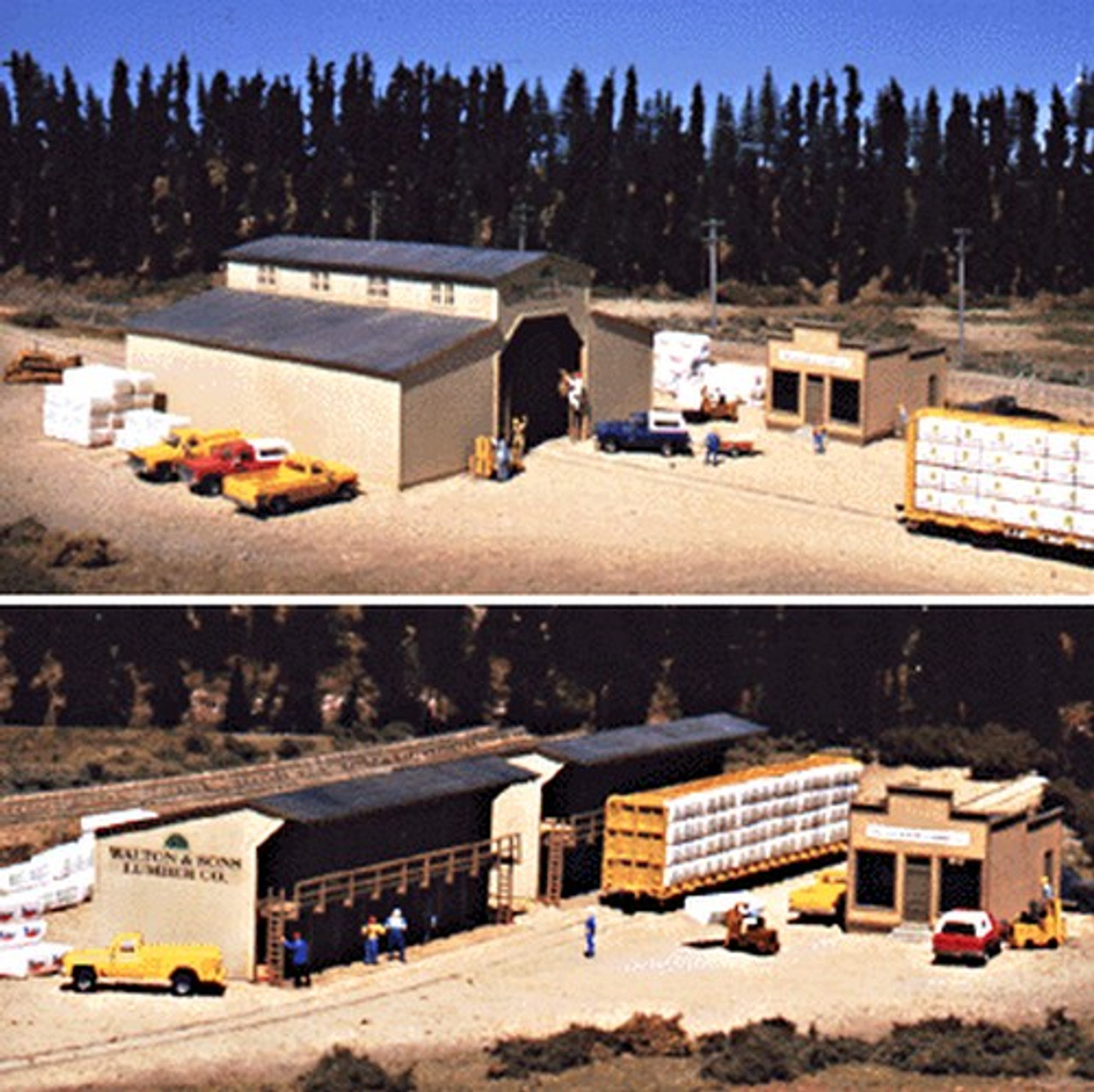Walthers Cornerstone HO Scale Building//Structure Kit Clayton County Lumber