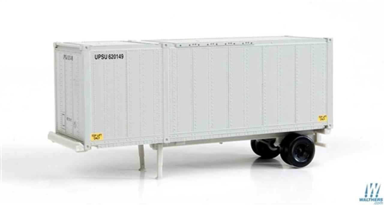 2551 Walthers SceneMaster 26/' Drop-Floor Trailer 2-Pack UPS Modern Shield Logo