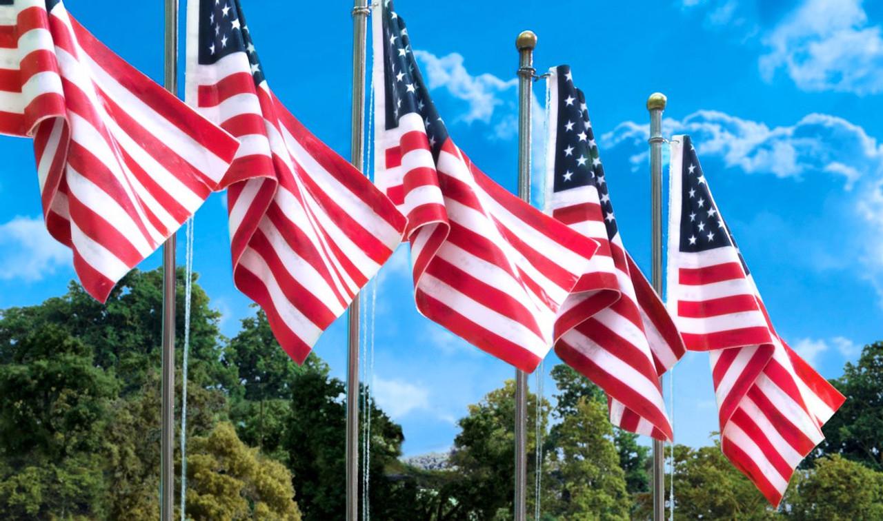Woodland Scenics Small US Flag Pole WOOJP5950
