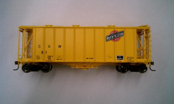 Athearn HO Scale RTR 40' 2600 Airslide Early Version, CGW #31 (Yellow) Lombard Hobbies Exclusive