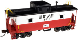 Atlas Trainman HO Scale Ready to Run C&O Style Cupola Caboose, Western Maryland  WM #1828 (red, white, black, Circus Scheme)