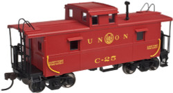 Atlas Trainman HO Scale Ready to Run C&O Style Cupola Caboose, Union Railroad (Red/Yellow/Black) #C-25