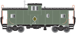 Atlas Master HO 20003106 Extended Vision Caboose, Chicago & Illinois Midland #273
