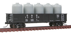 Atlas Trainman N 50001362  42' Steel Gondola wCement Container Load Delaware & Hudson D&H #13650