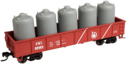 Atlas Trainman N 50001366  42' Steel Gondola wCement Container Load Central Railroad of New Jersey # 88084