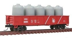 Atlas Trainman N 50001367  42' Steel Gondola wCement Container Load Central Railroad of New Jersey # 88089
