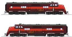 Broadway Limited Imports HO 5505 Gulf Mobile & Ohio GM&O EA A-unit, #100A, Maroon and Red, Paragon3 Sound/DC/DCC
