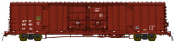 BLMA N Scale RTR, Santa Fe Class BX-166 60' Beer Boxcar, Santa Fe #621549 (Boxcar Red, No Logo)