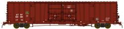 BLMA N Scale RTR, Santa Fe Class BX-166 60' Beer Boxcar, Santa Fe #621566 (Boxcar Red, No Logo)
