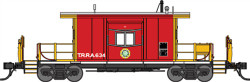 Bluford Shops N 21070 Scale Ready to Run Steel Transfer Caboose, Short Body, Terminal Railroad Association of St. Louis #634 Gil (red, yellow)