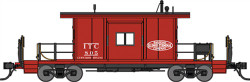 Bluford Shops N 21081 Ready to Run Steel Transfer Caboose, Short Body, Illinois Terminal #804 (red, black)