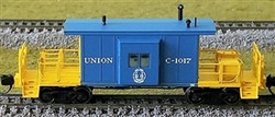 Bluford Shops N 21210 Short Body Bay Window Transfer Caboose Union Railroad #C-1017