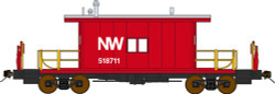 Bluford Shops N 23011 Ready to Run Steel Transfer Caboose w/Long Roof,  Norfolk & Western NW #518741