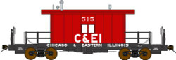 Bluford Shops N 23050 Ready to Run Steel Transfer Caboose w/Long Roof,  Chicago & Eastern Illinois  C&EI #515