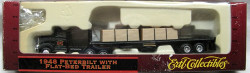 ERTL HO 4257 1948 Peterbilt With Flat Bad Trailer And Tarp Load
