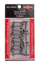 "Intermountain HO 40054 Semi-Scale 36"" Wheels 12 Sets"