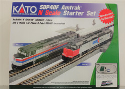 Kato N 106-0044 M1 SDP40F Amtrak Phase 2 Starter Set