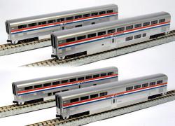 Kato N 106-3517 Superliner Passenger Car 4-Car Set A Amtrak Phase III
