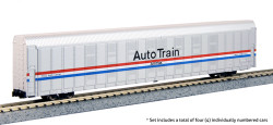 Kato N 106-5508 Autorack  Amtrak Auto Train Phase III 4 Car Set #2