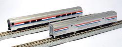 Kato N 106-6292 Budd Amfleet II 2-Car Set B Baggage & Coach-Cafe Amtrak Phase lll