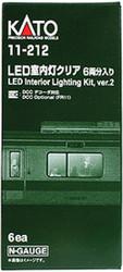 Kato N 11-212 Passenger LED Car Interior Lighting Kit Version 2 - 6-pack