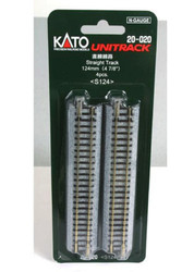 "Kato N 20-020 Unitrack Straight Track 124mm 4 7/8"" 4 pieces"